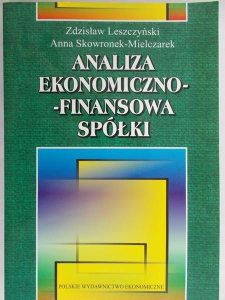 Leszczyński Zdzisław - Analiza ekonomiczno-finansowa spółki