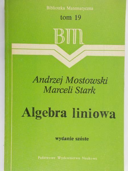 Stark Marceli - Algebra liniowa