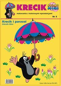 Miler Zdenek - Krecik i parasol malowanka z kolorowymi reprodukcjami