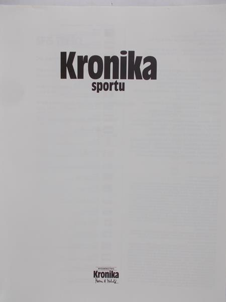 Michalik Marian (red.)  - Kronika sportu