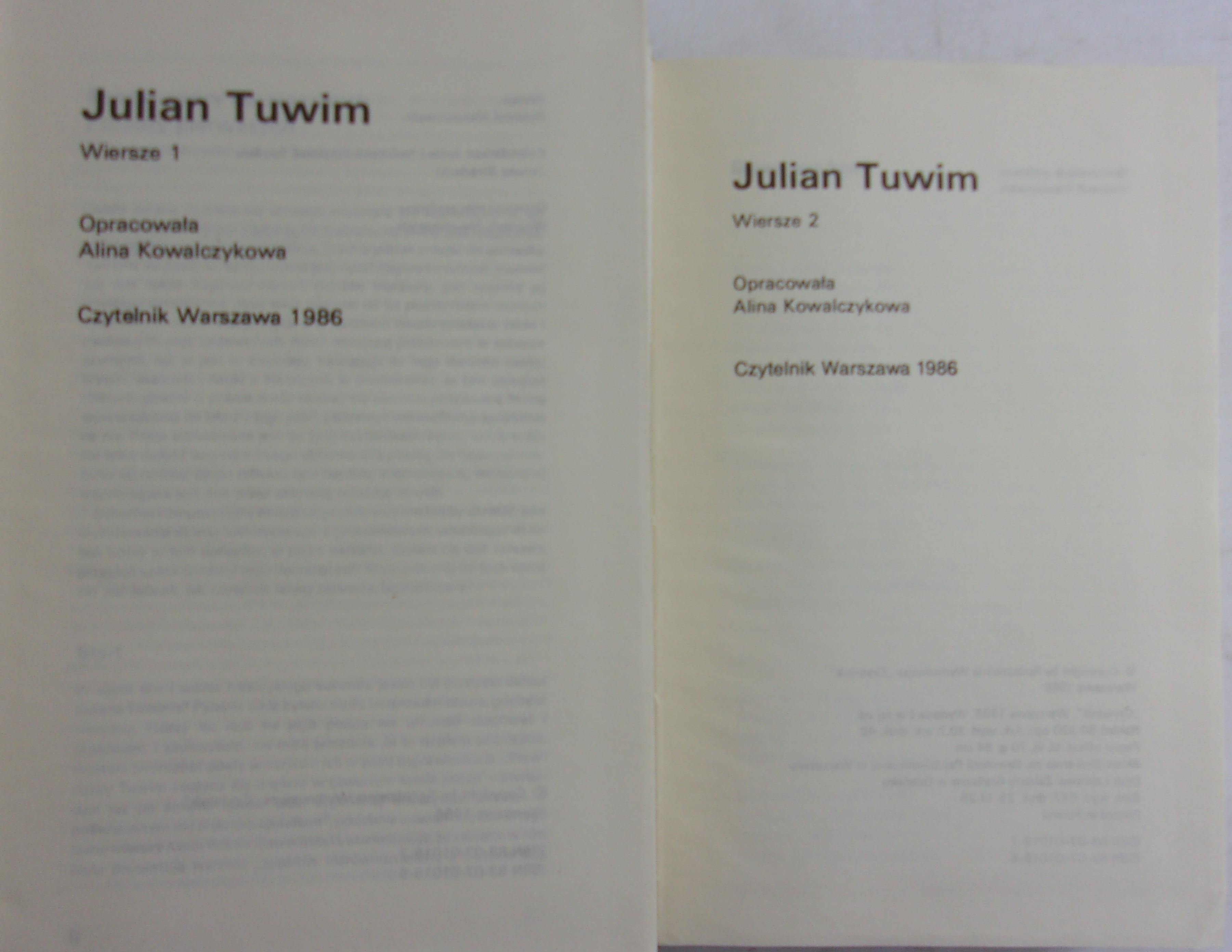 Wiersze 1 I 2 Julian Tuwim 1500 Zł Tezeuszpl