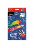 Kredki sześciokątne 36 kolorów+ temperówka KIDEA