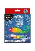 Pisaki ze stożkową końcówką Jumbo 8 kolorów KIDEA