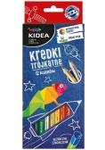 Kredki trójkątne 12 kolorów KIDEA