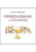 Pierwsza komunia z białą kokardą Twardowski