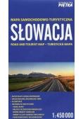 Słowacja 1:450 000 mapa samochodowa PIĘTKA