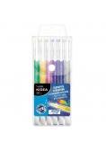Długopisy brokatowe 6 kolorów KIDEA
