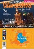 Atlas Warszawa+59 miejscowości podwarsz. plan mias