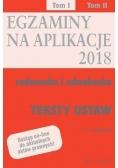 Teksty ustaw. Egzaminy. Aplikacje radcowska...T.1