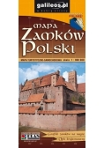 Mapa Zamków Polski 1:900 000