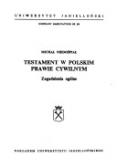 Testament w polskim prawie cywilnym