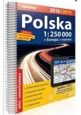 Atlas samochodowy Polska 1:250 000 2018/2019