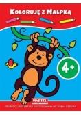 Koloruję z małpką 4+