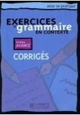 Exercices de grammaire en contexte-avance corriges