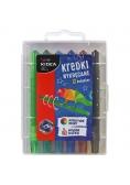 Kredki wykręcane 12 kolorów KIDEA