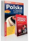 Atlas samochodowy Polska 2018/19 + Pierwsza pomoc