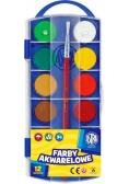 Farby Akwarelowe fi23,5mm 12 kolorów ASTRA