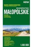 Województwo Małopolskie 1:180 000 mapa samochodowa