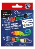 Kredki woskowe dwustronne jumbo 8 sztuk KIDEA