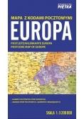 Europa 1:5 200 000 mapa z kodami pocztowymi