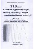 110 zadań o funkcjach trygonometrycznych ...