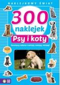 Naklejkowy świat. 300 naklejek. Psy i koty