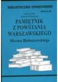 Biblioteczka opracowań nr 063 Pamiętnik z powst...
