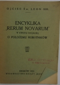 "Encyklika ""Rerum Novarum "", 1931r."