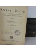 Świat i życie zarys encyklopedyczny współczesnej wiedzy i kultury, zestaw 4 książek, ok. 1939r.