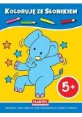 Koloruję ze słonikiem 5+
