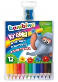 Kredki ołówkowe 12 kolorów bls BAMBINO