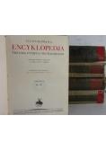 Ilustrowana encyklopedia, 5 tomów,  rok 1927