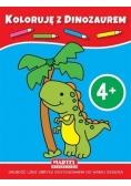 Koloruję z dinozaurem 4+