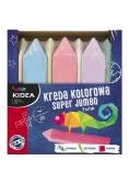 Kreda kolorowa Super Jumbo 7 kolorów KIDEA