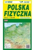 Polska 1:1 050 000 mapa fizyczna PIĘTKA