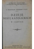 Dzieje misyj katolickich w zarysie, 1927 r.