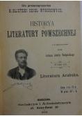 Historya literatury arabskiej, 1901 r.