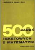 500 zadań tekstowych z matematyki