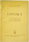Logika. Podręcznik dla studiujących nauki filozoficzne, 1949 r.