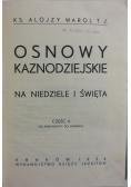 Osnowy kaznodziejskie, 1934 r.