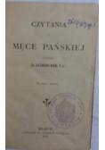 Czytania o męce Pańskiej, 1911 r.