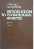 Introduction to phonological analysis