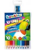 Kredki ołówkowe 10 kolorów bls BAMBINO