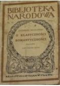 O klasyczności i romantyczności 1925 r.