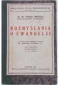 Rozmyślania o Ewangelji, 1931 r.