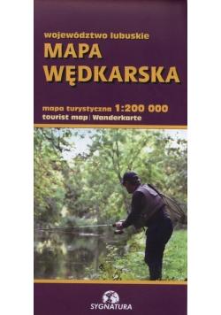 Województwo Lubuskie Mapa wędkarska 1:200 000