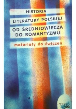 Historia literatury polskiej od średniowiecza do romantyzmu