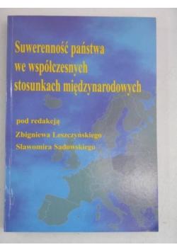 Suwerenność państwa we współczesnych stosunkach międzynarodowych