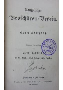 Katholischer Broschuren -Werein ,1865r.