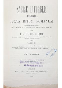 Sacrae Liturgiae praxis juxta ritum romanum , Tom II , 1903 r.